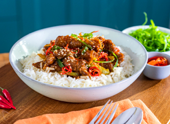 Honey Chilli Beef Rice Bowl