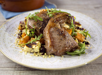 Moroccan lamb with roasted butternut couscous