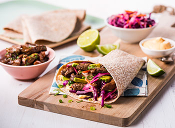 Asian Lamb Wraps